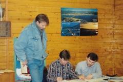 Wiggo Finnseth, Jan S Berglund og Trond Romsdal 9/12 91