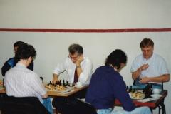 Bak: Jørgen S Christiansen, Magne Bergvoll og Robert Bergersen. Foran: Finn Haug og Egil Teger