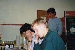 Pål Røyset (foran), Finn Haug, Sverre Karlsen (bak)