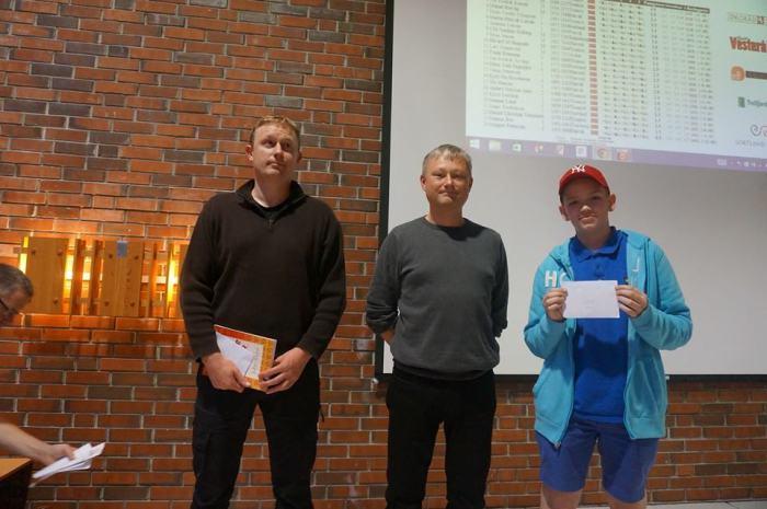 Topp 3 i A-gruppa: Pål, Gunnar og Tor Fredrik