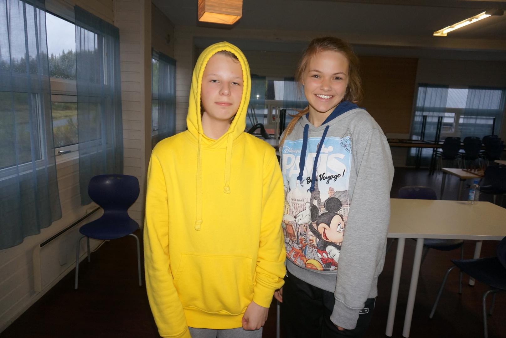 Mats og Elise, høyst fortjente vinnere av gårsdagens pratelagsjakk!