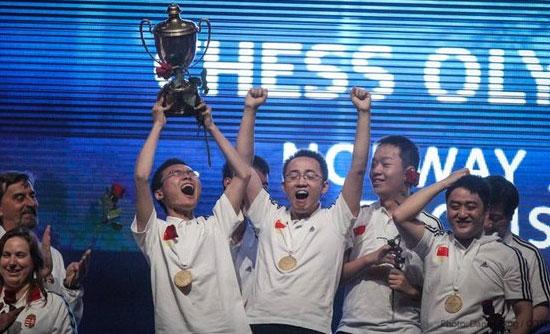 OL-vinner Kina under premieutdelingen!