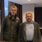 Trond Romsdal (nederst), vinner av Rallarsjakken 2014, og en flott andreplass til Christian etter seier over formsterke Jon Kristian i siste runde