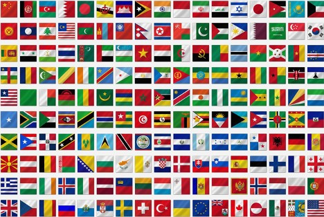 Verdens flagg med navn